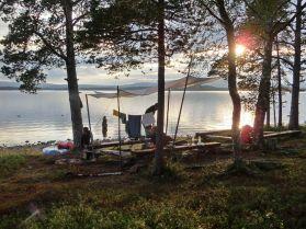 Abendstimmung im Lager