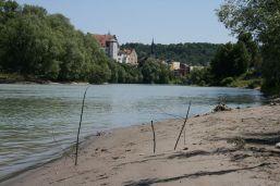 Am Stauwehr in Wasserburg