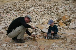 im Fossiliensteinbruch am Blumenberg