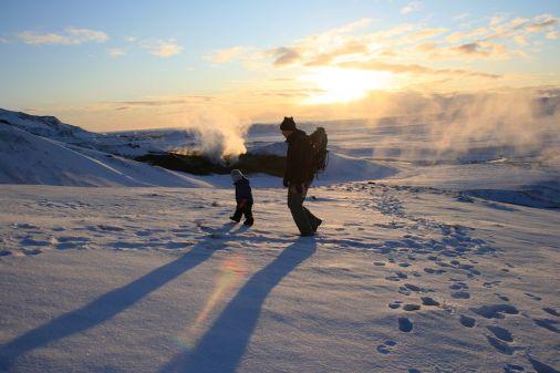 Winter im Hengill-Gebiet