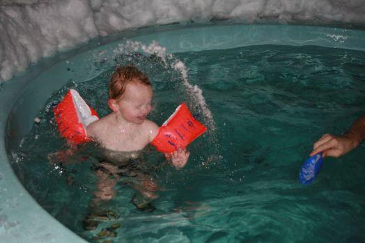 ein letztes Mal Badespaß