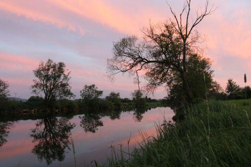 Abendstimmung am Fluß