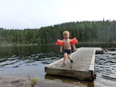 Baden im See - das Wasser ist überraschend warm!
