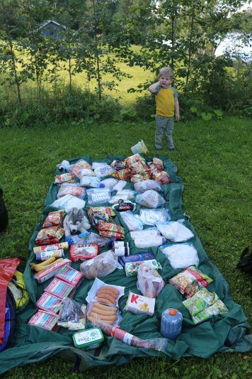 Essensvorräte für ca. 15 Tage