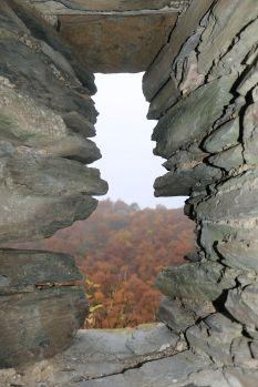 Blick zur Altburg, einer Keltenfestung