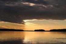ein farbenprächtiger Sonnenuntergang...