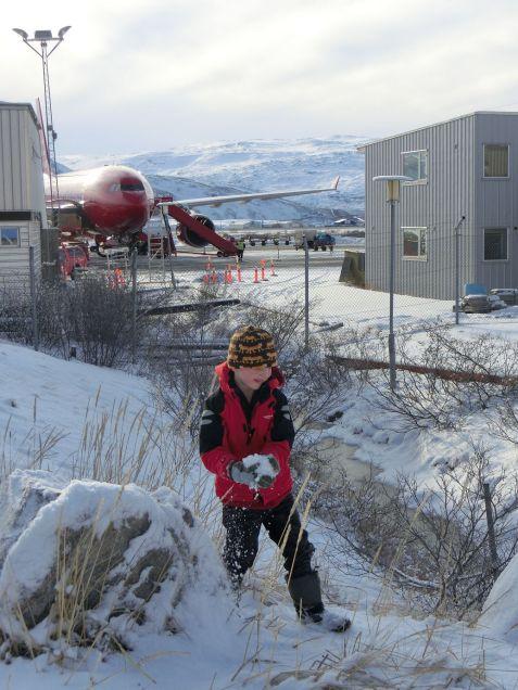 am Flughafen von Kangerlussuaq