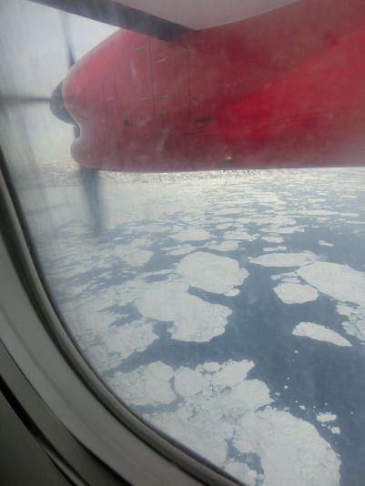 Eisfjord beim Anflub auf Ilulissat