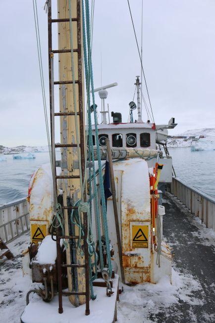Das Fischerboot ist wenig vertrauenerweckend...
