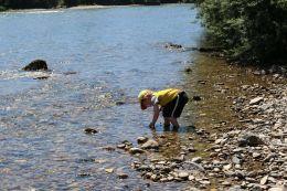 Abkühlung im Fluß