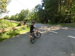 die Radtour beginnt