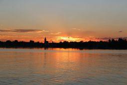 Sonnenuntergang am Freitagabend