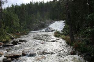 Wasserfall im Lemmenjoki-Park