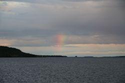 Regenbogen am Inarisee