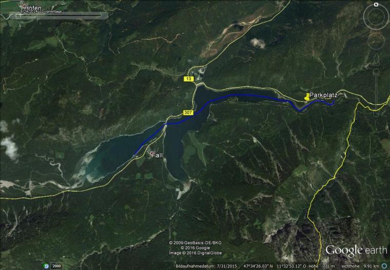 Gesamtstrecke ca. 12,5km