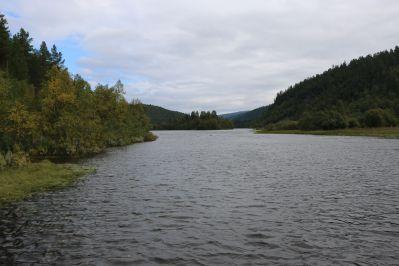der Lemmenjoki - hier werden wir die nächsten drei Wochen wandern und paddeln
