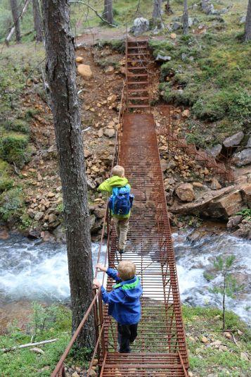 Brücke aus Drahgeflecht