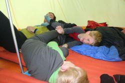 Spaß im Zelt