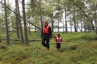 im schützenden Wald