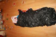Niklas mit fas vier Jahren mit seinem zweiten Daunenschlafsack