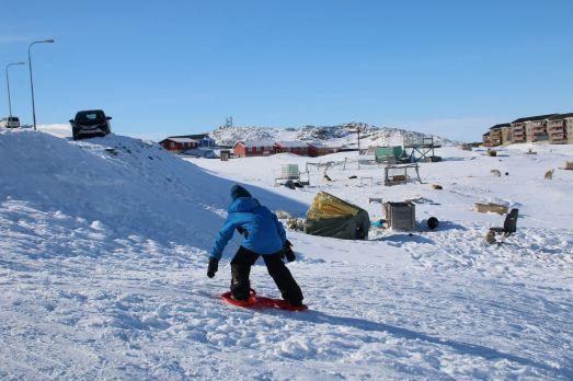 Eis und Schnee werden in vollen Zügen genossen