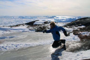 Spaß auf der Eisfläche