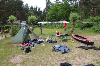 wir verpacken die Boote und bereiten unsere Heimreise vor
