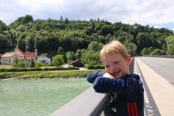auf der Salzachbrücke in Burghausen