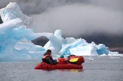Paddeln im Eis