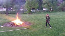 großes Feuer!
