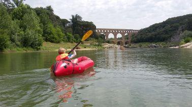 wir nähern uns wieder dem Pont du Gard