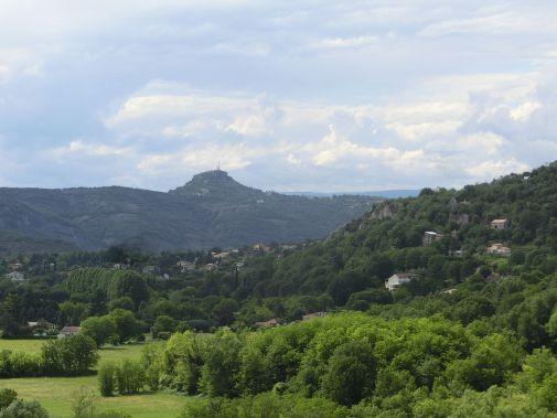 Blick über das Ardechetal/Tal der Ibie