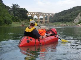 erster lick auf den Pont du Gard