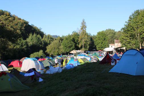 Überfüllter Zeltplatz in Cesky Krumlov