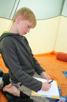 Niklas schreibt Tagebuch