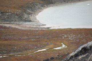 schön gelegenes Lager in herbstlicher Tundra...