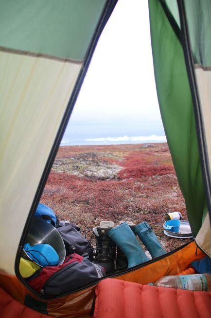 Ausblick aus dem Zelt