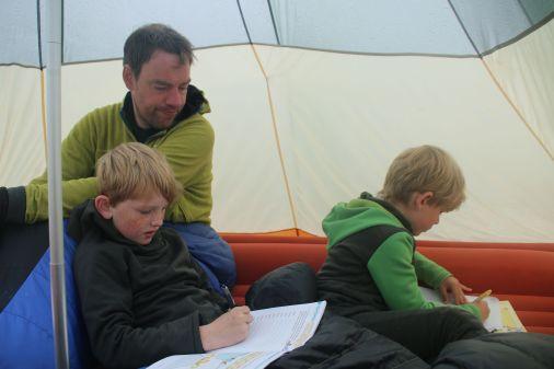 Abwettern im Zelt...mal wieder!