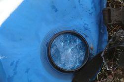 gefrorener Wassersack