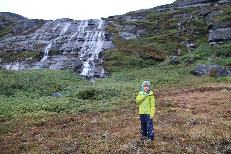 Wasserfall am Ende des Talkessels