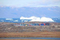 Blick auf den Flughafen von Ilulissat
