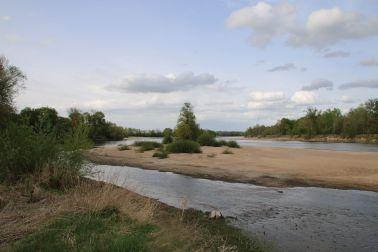 Lagerplatz mit vorgelagerter Sandinsel