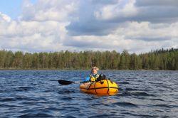 Niklas paddelt wieder alleine