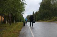 ...und dann der Fußmarsch zum Bus