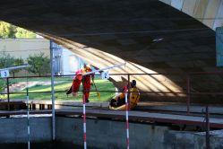 einsetzstelle unter der Brücke